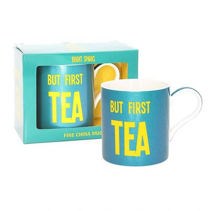 But First Tea Fine China Mug